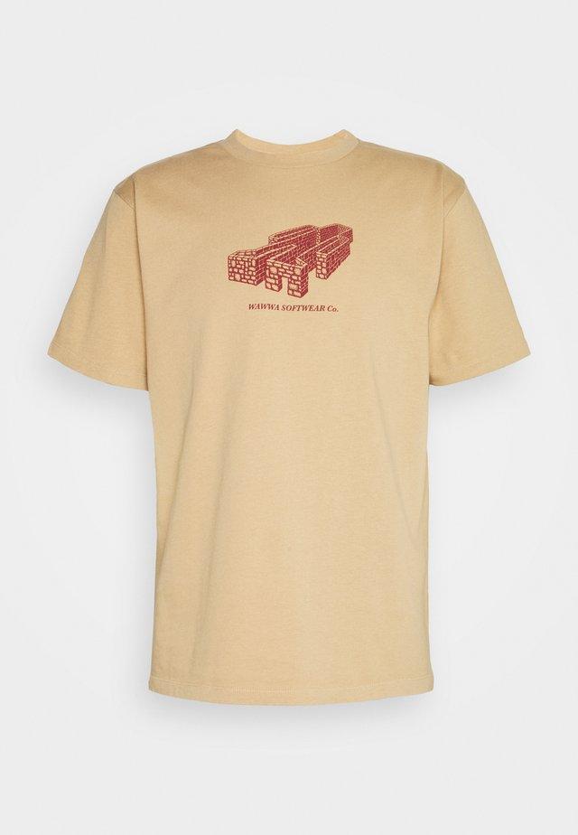 PAVILION UNISEX - Print T-shirt - gold