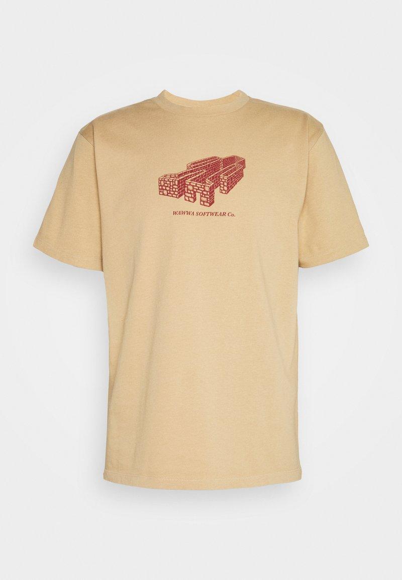 WAWWA - PAVILION UNISEX - Camiseta estampada - gold