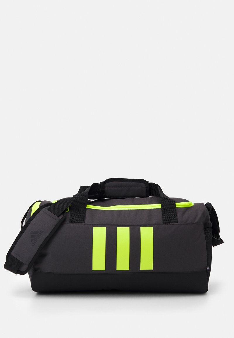 adidas Performance - 3S DUFFLE S - Sports bag - dgh solid grey/black/solar yellow