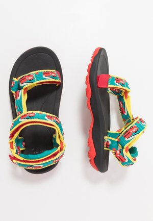 Walking sandals - red/turquoise
