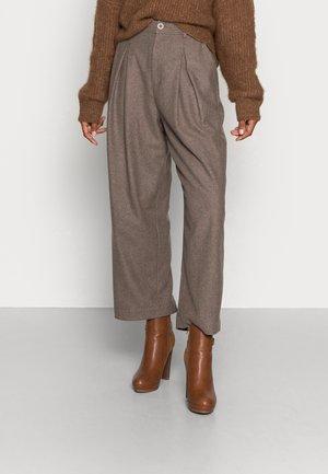 Spodnie materiałowe - mink melange