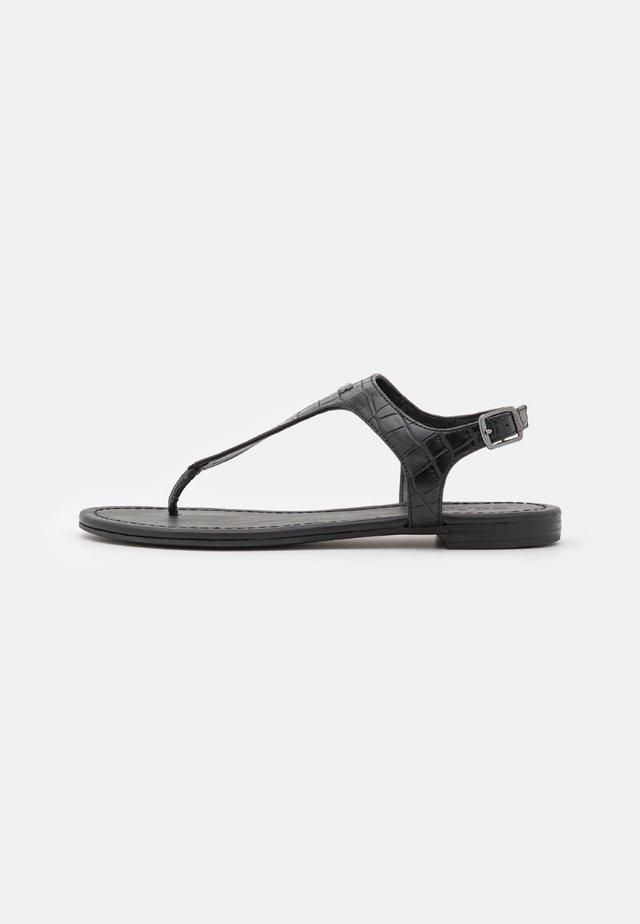 THONGS  - Sandály s odděleným palcem - black