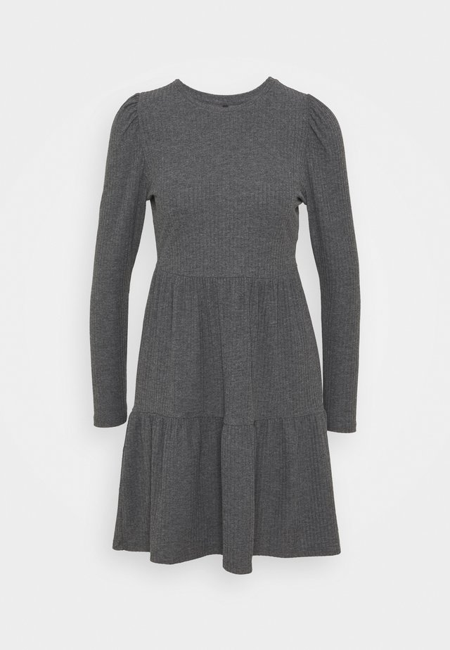 ONLNELLA DRESS - Strikkjoler - dark grey melange