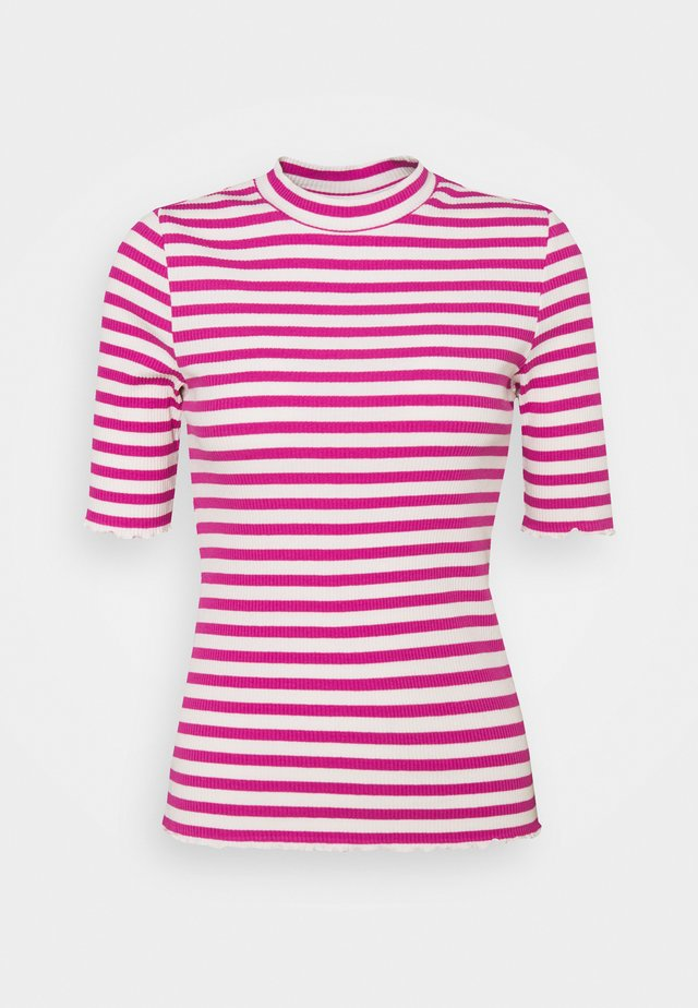 SLFANNA CREW NECK TEE  - T-shirt con stampa - rose violet