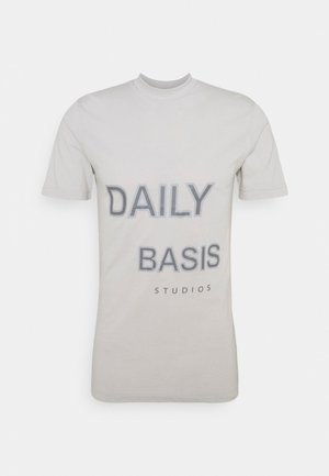 TONAL LARGE GRAPHIC TEE UNISEX - T-shirt con stampa - beige