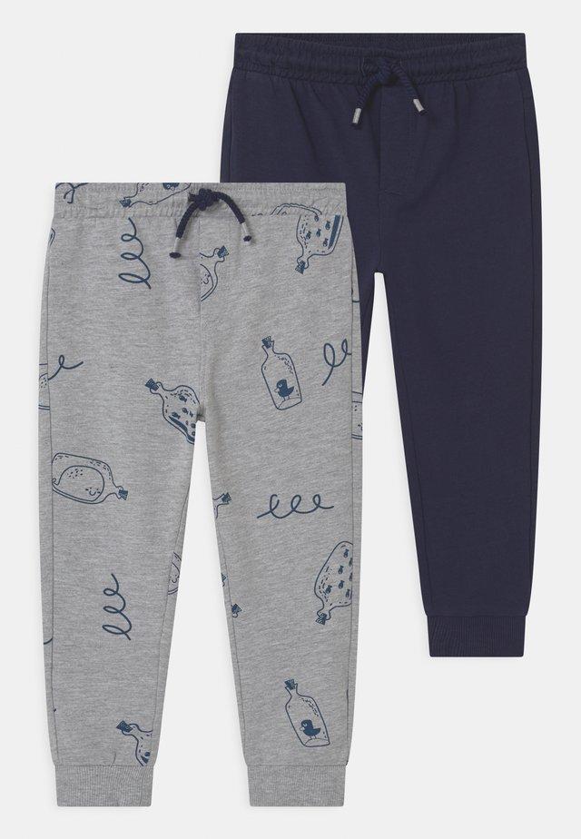 2 PACK - Pantalon classique - light grey melange