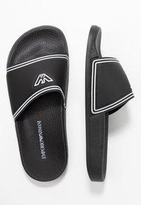 Emporio Armani - Pantofle - black/white - 2