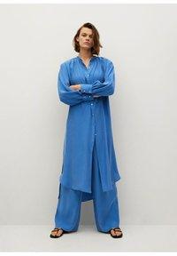Mango - Skjortekjole - blau - 0