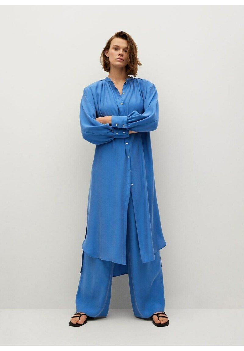 Mango - Skjortekjole - blau