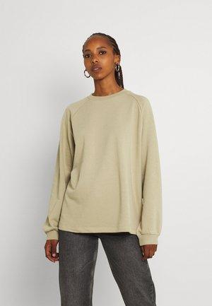 LONG BASIC - Sweatshirt - khaki