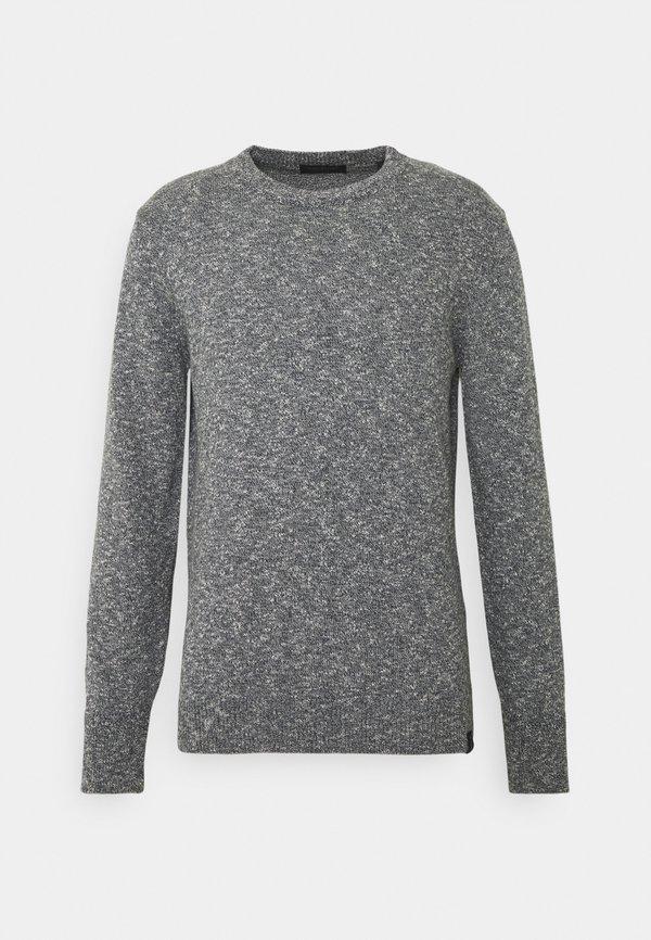 Scotch & Soda Sweter - dark grey melange/ciemnoszary melanż Odzież Męska JITG