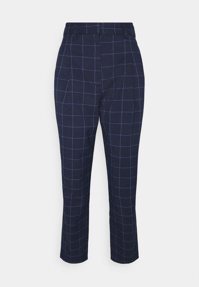TYRA TROUSERS SCALE - Spodnie materiałowe - blue navy