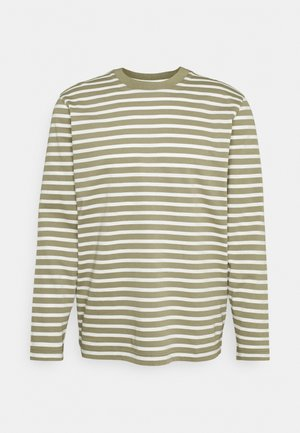 SLHRELAXCOLMAN O NECK TEE  - Long sleeved top - aloe/egret