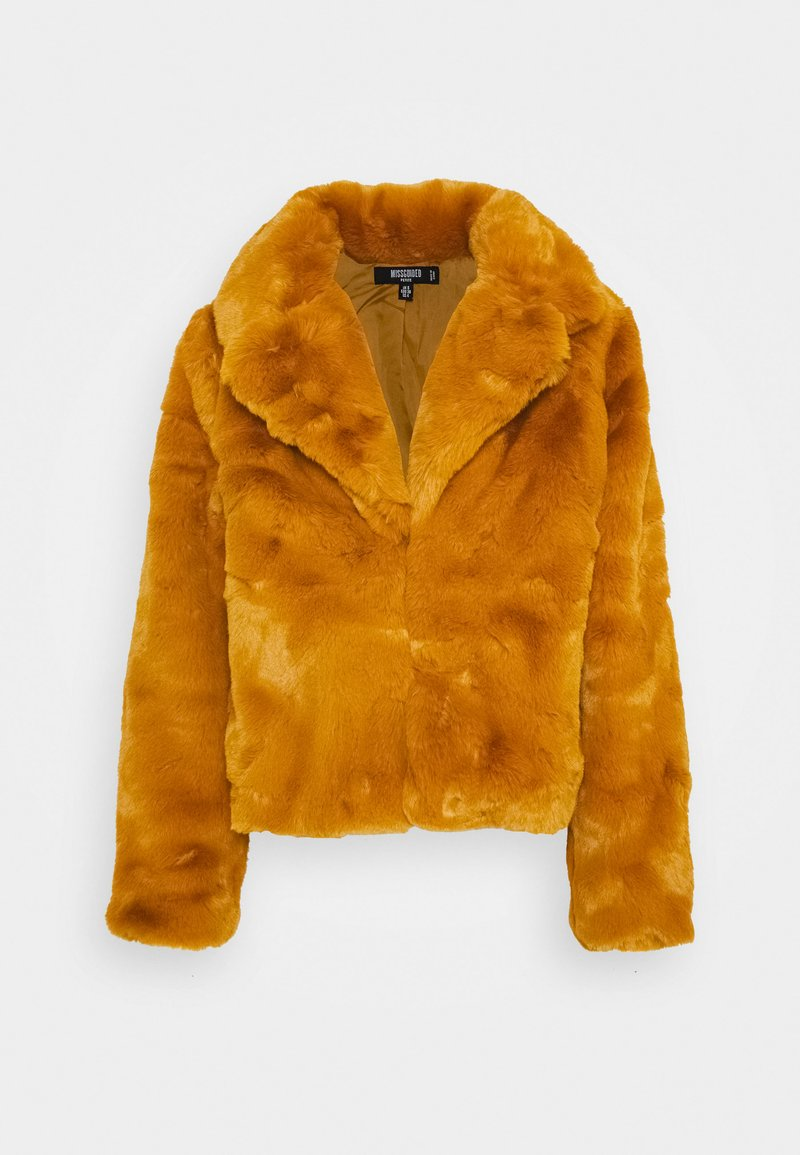 Missguided Petite - SHORT COLLAR - Winter jacket - camel