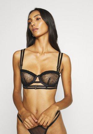 BELLA BRA - Kaarituelliset rintaliivit - black