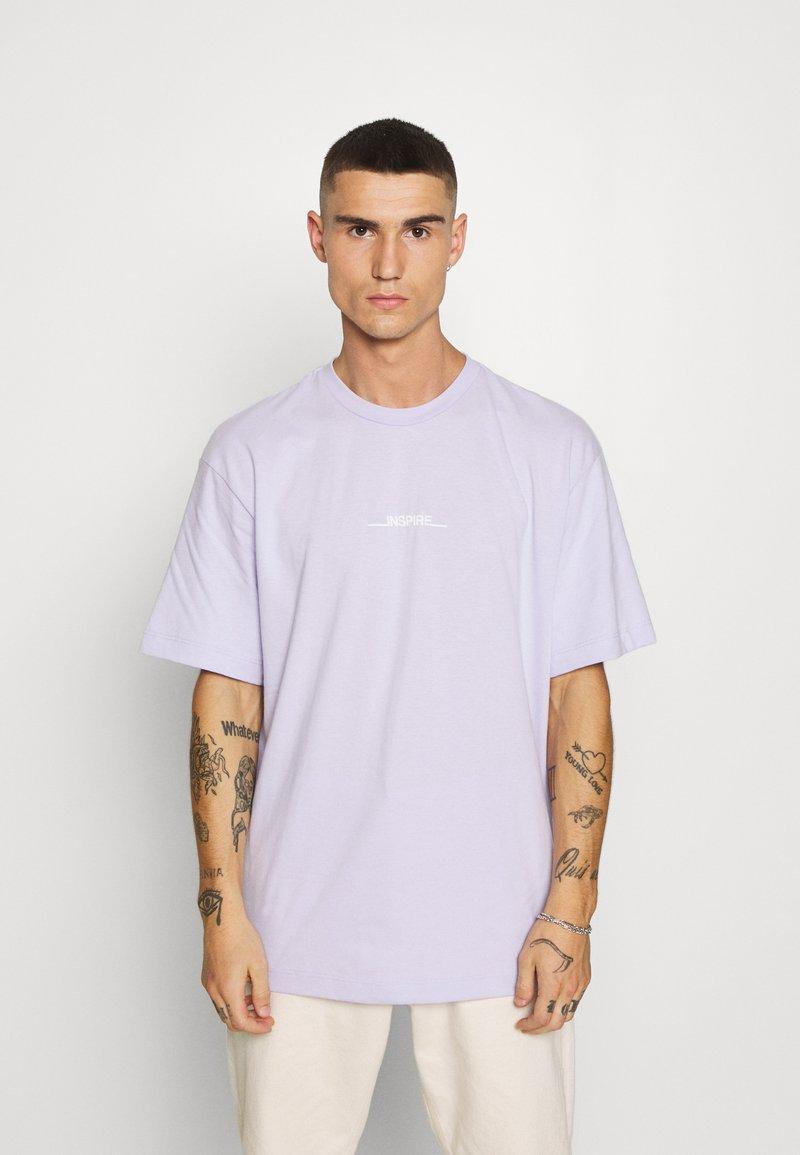 Topman - INSPIRE TEE - Print T-shirt - pink