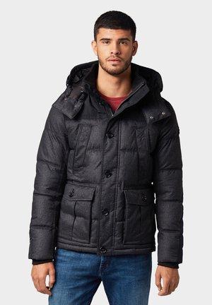 MIT ABNEHMBARER KAPUZE - Winter jacket - black