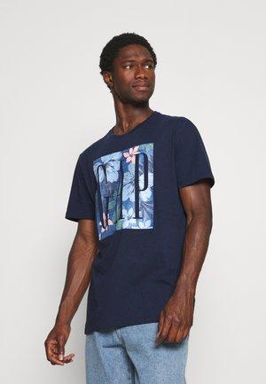 V CORP LOGO KNOCKOUT - T-shirt z nadrukiem - tapestry navy