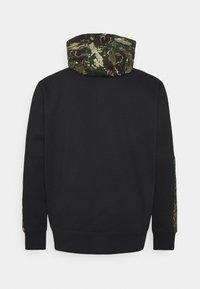 Tommy Jeans Plus - PLUS COLORBLOCK CAMO HOODIE - Sweatshirt - black - 1