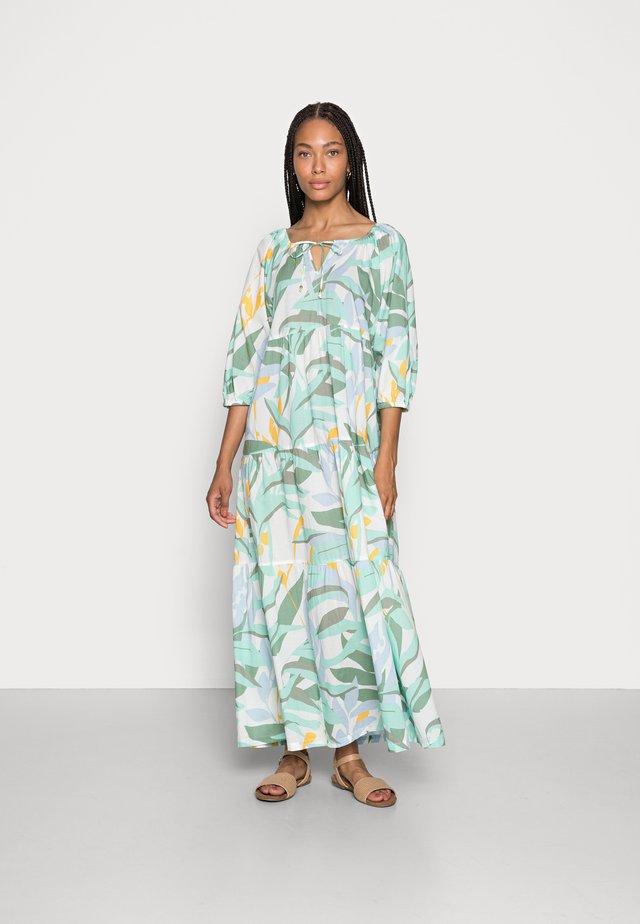 Długa sukienka - ocean green