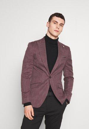 AUBERGINE TEXTURE - Blazer jacket - burgundy