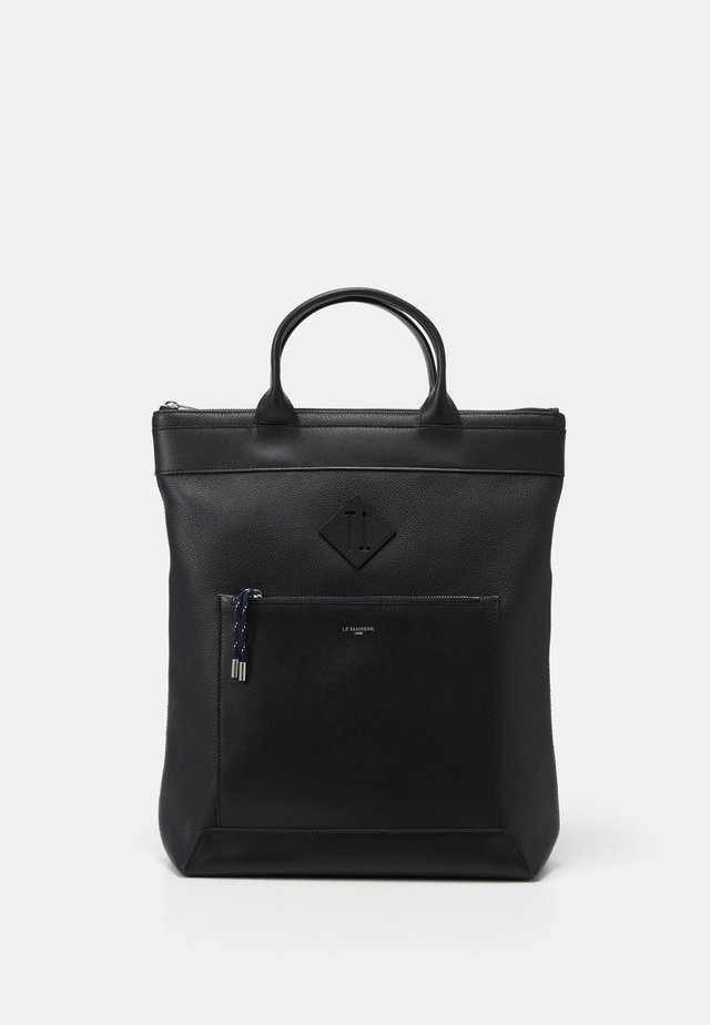 NATHAN LARGE VERTICAL ZIPPED TOTE BAG - Mochila - noir