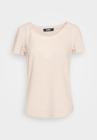 Zign - T-shirt print - off-white/camel - 4