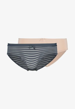 LOUISE HIPSTER 2 PACK - Culotte - blue charcoal/blush