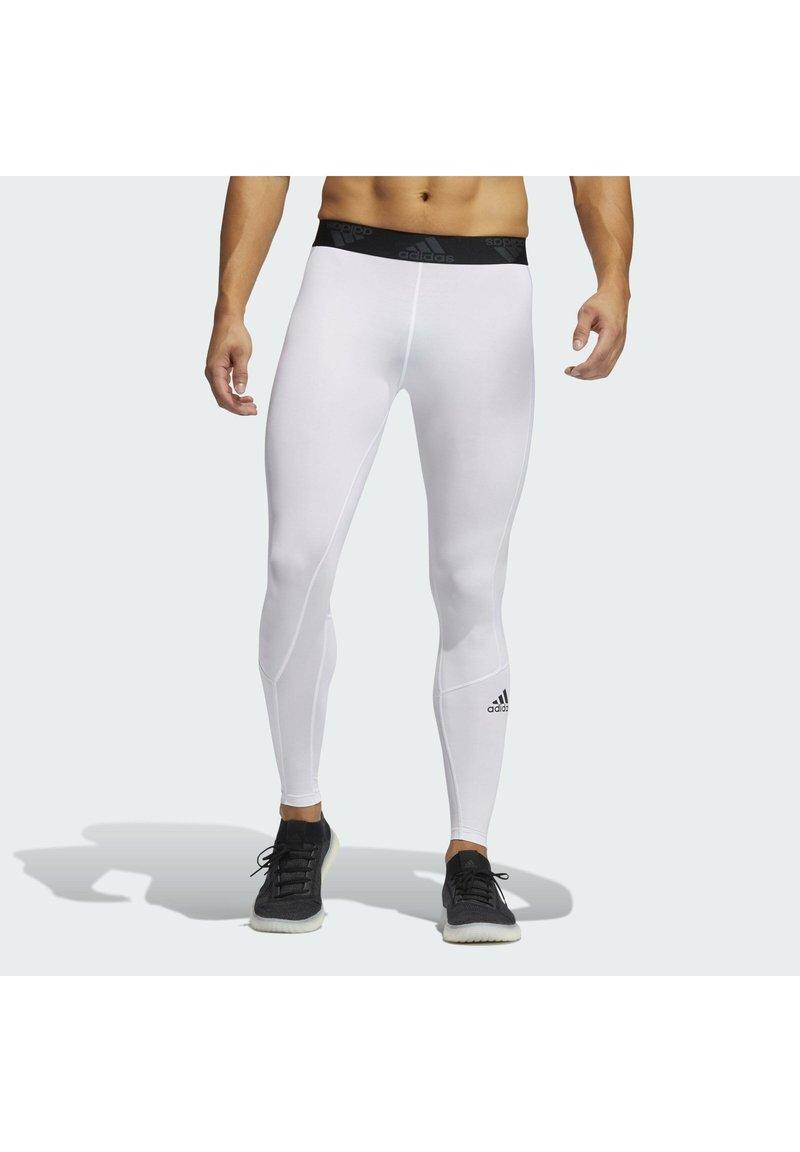 adidas Performance - TURF LONG TIGHT PRIMEGREEN TECHFIT WORKOUT COMPRESSION LEGGINGS - Leggings - white