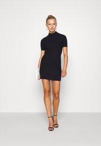 Fashion Union - ETHAL - Strikket kjole - navy - 1