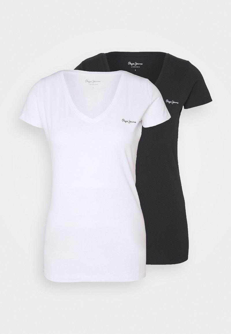 Pepe Jeans - BEA 2 PACK - T-shirt basic - black/white