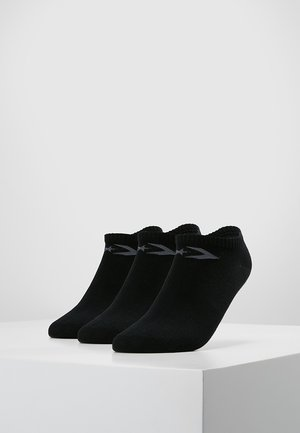 BASIC WOMEN LOW CUT 3 PACK - Skarpety - black
