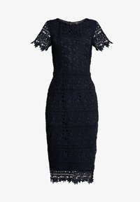 Missguided - CROCHET OPEN BACK MIDI DRESS - Cocktail dress / Party dress - dark blue - 5