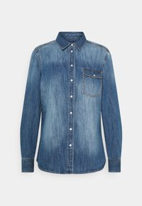 Marc O'Polo - REGULAR FIT CHEST POCKET LONG SLEEVES - Button-down blouse - vintage authentic wash - 0