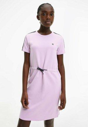 LOGO TAPE - Day dress - lavender pink