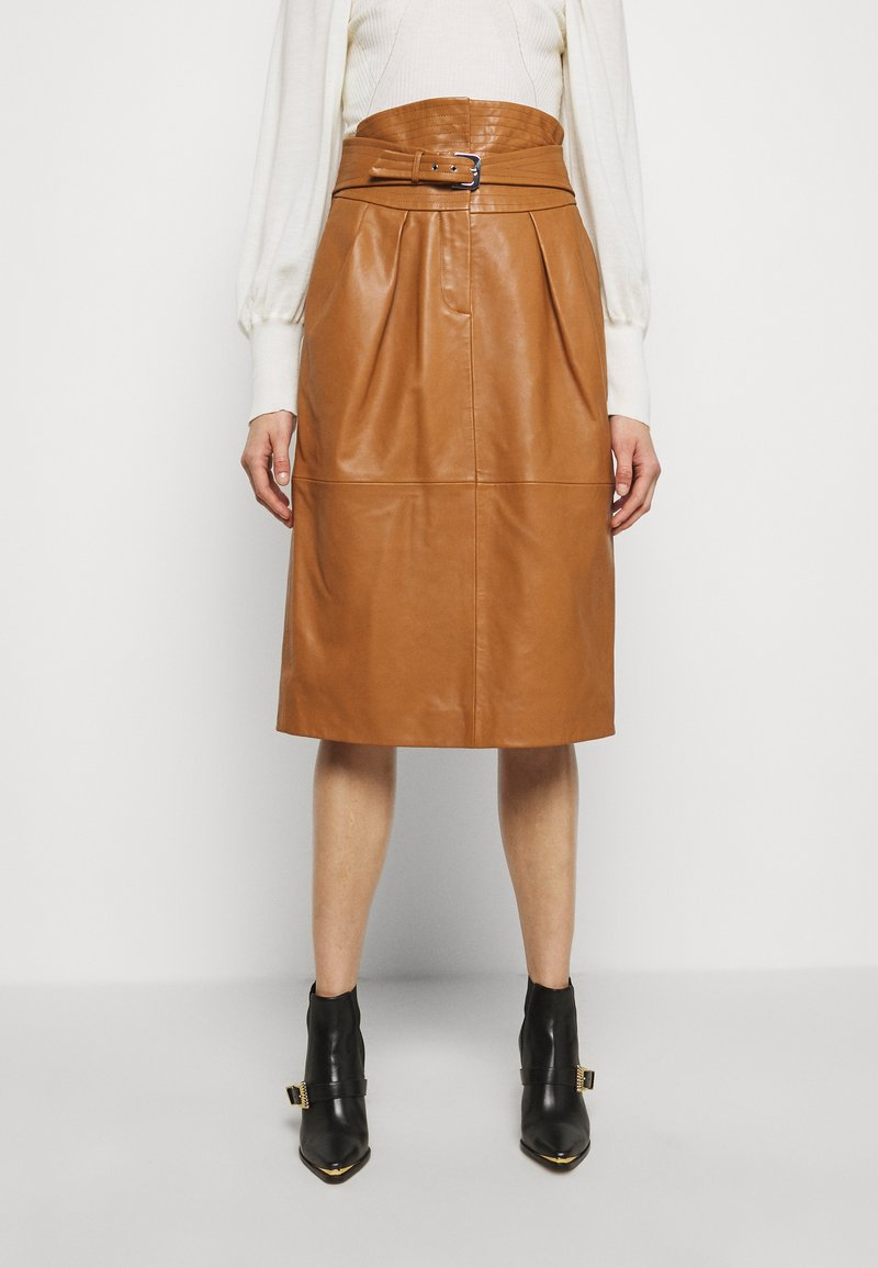 Alberta Ferretti - PIECES SKIRT - Pencil skirt - brown