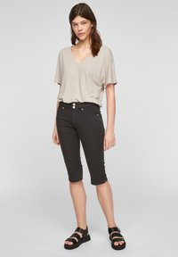 Q/S designed by - Denim shorts - black - 1