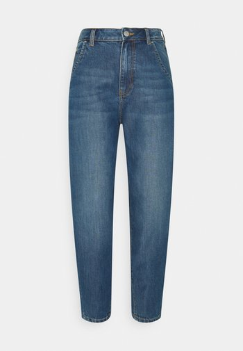BARREL MOM VINTAGE MIDDLE BLUE - Relaxed fit jeans - used mid stone blue