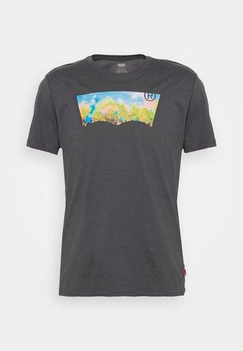 HOUSEMARK GRAPHIC TEE UNISEX - Print T-shirt - washed black