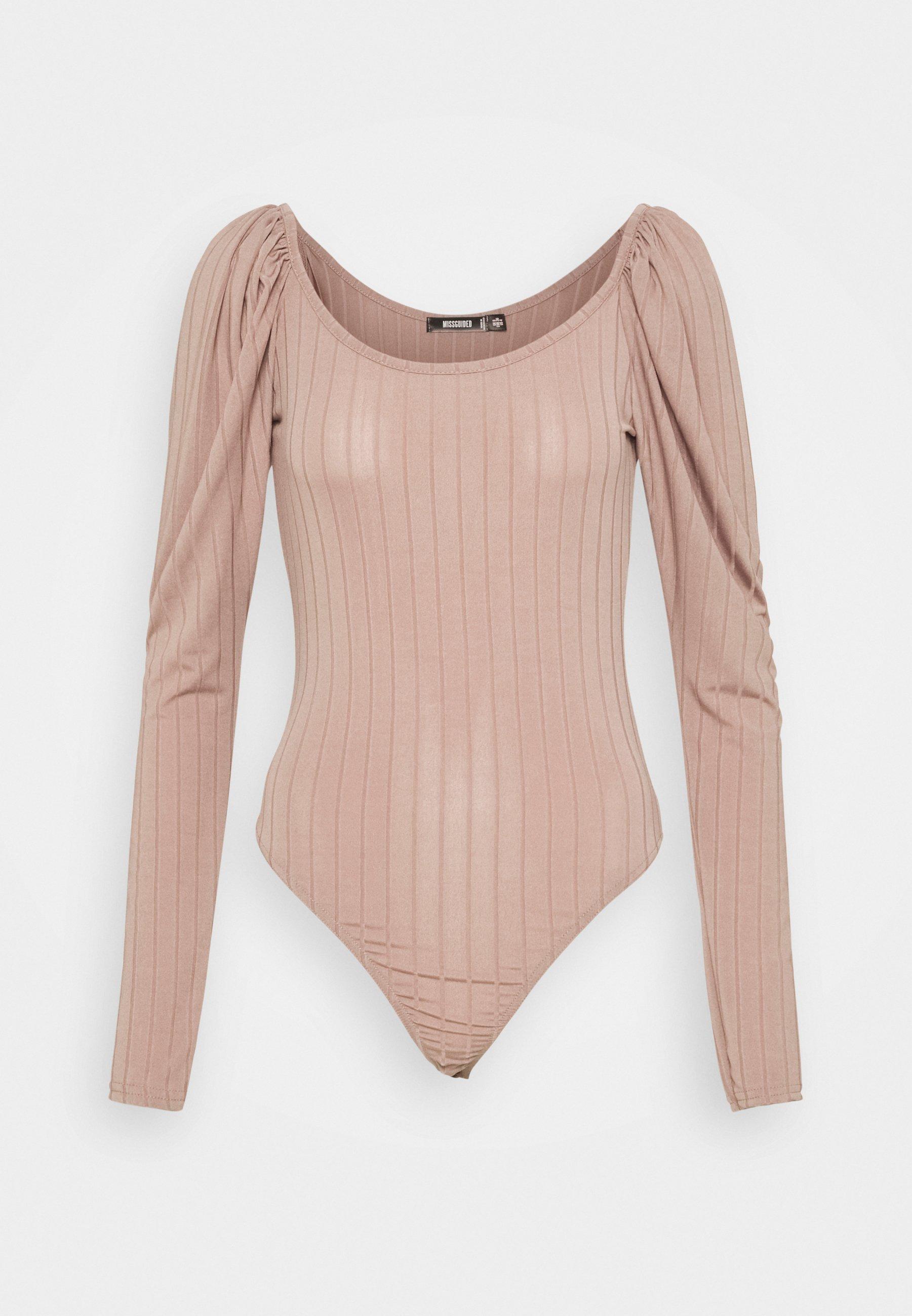 Women PUFF SLEEVE SCOOP NECK  - Long sleeved top