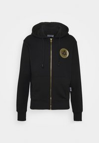 Versace Jeans Couture - FULL ZIP HOODIE WITH LOGO - veste en sweat zippée - nero - 0