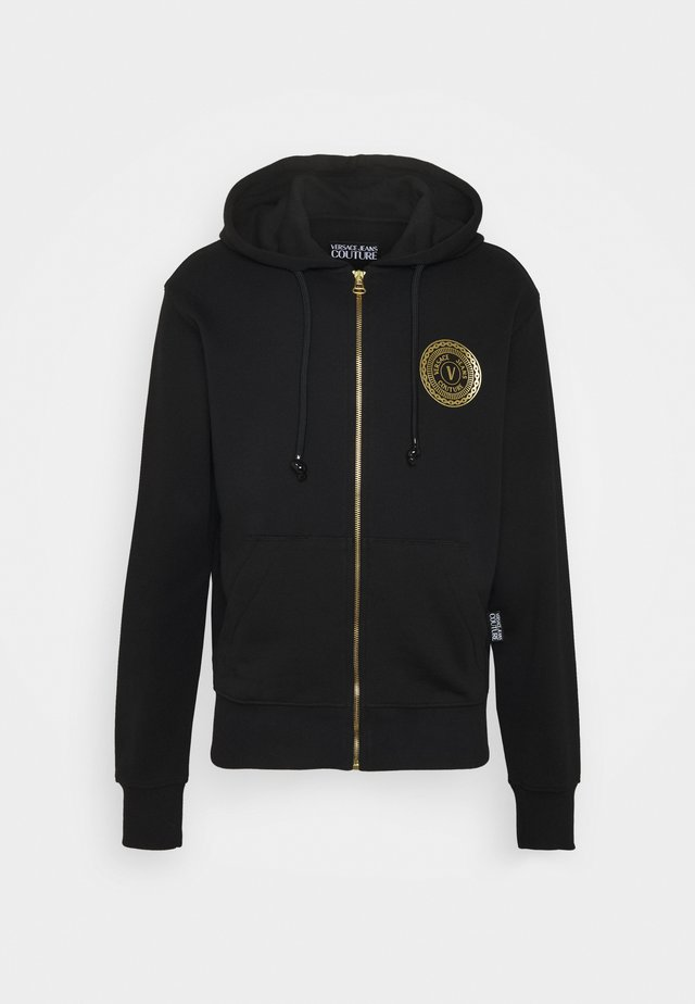 FULL ZIP HOODIE WITH LOGO - Mikina na zip - nero