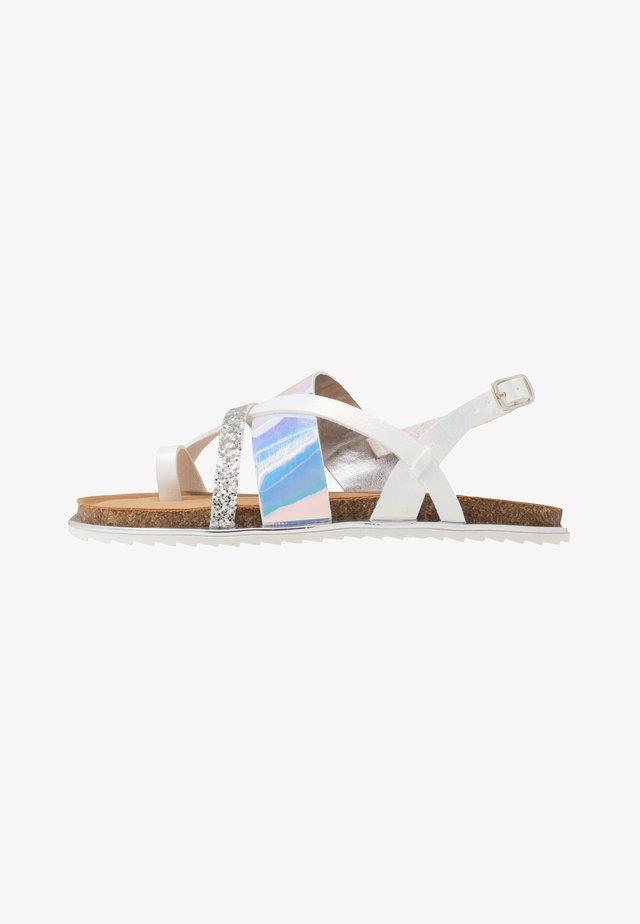 T-bar sandals - iridescent