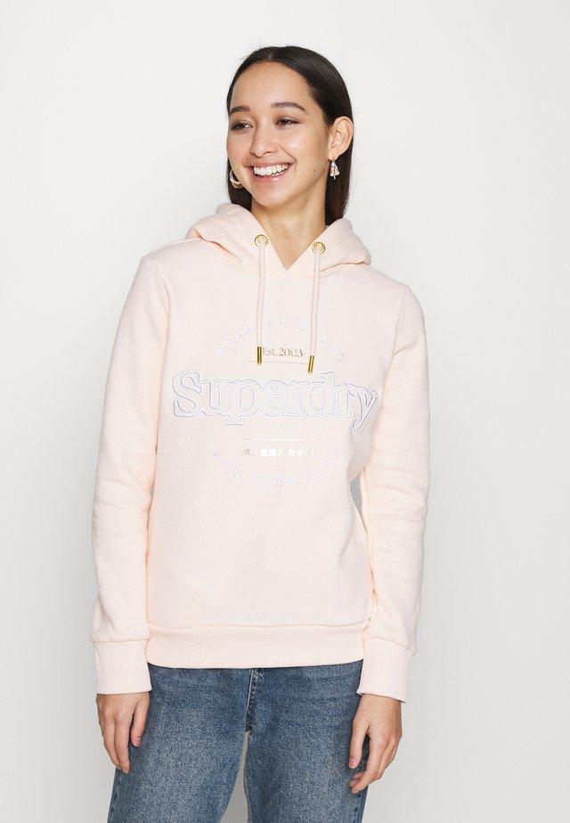 ESTABLISHED HOOD - Sweatshirt - light pink