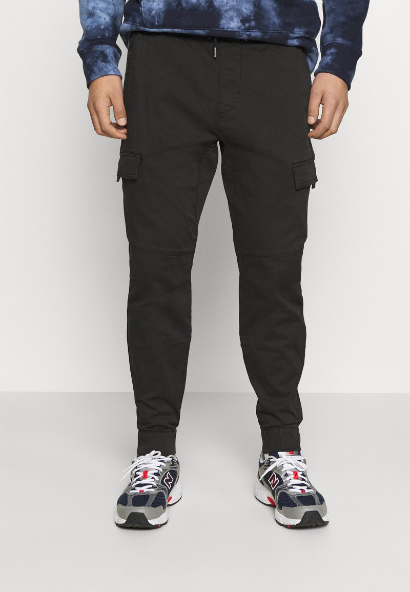 Hollister Co. - JOGGER UTILITY - Cargo trousers - black tab