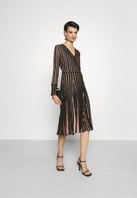 Diane von Furstenberg - EDELINE - Maxi dress - black/pale pink - 1