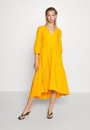 YASRADHIKA 3/4 MIDI DRESS - Day dress - cadmium yellow