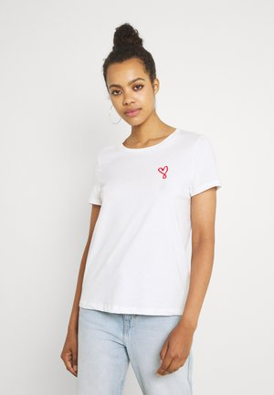 VMANNIFRANCIS BOX - T-shirt con stampa - snow white