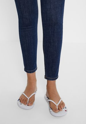 BUTTERFLY - T-bar sandals - white