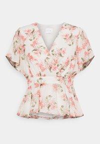 Vila - VIKATHRYN  - T-shirts med print - cloud dancer/flower - 0
